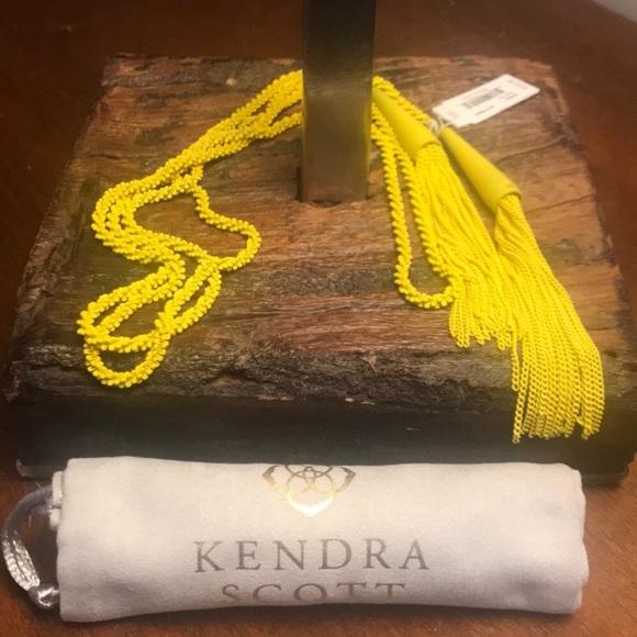 Kendra Scott Jewelry - NWT Kendra Scott Phara Matte Necklace in Yellow!!
